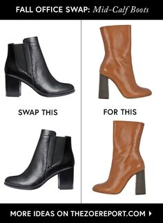 Swap your tried & true black ankle booties for on-trend mid-calf boots