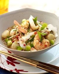Thai Ceviche with Coconut  ~ A refreshing starter or light main course, Sang Yoon's Thai take on a Latin American classic is a perfect balance of crunchy, tender, sweet, hot and tart.