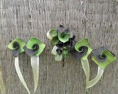 Flax wedding flowers.
