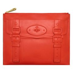 Mulberry - Maisie Pouch in Flame Polished Calf