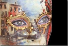 I want to do a Venetian Mask body painting.  I really like this mask.
