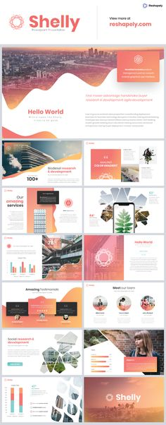 powerpoint Shellyis a multipurpose template that can be used for any type of presentation. This unique template gives you many possibilities of creativity. All shapes, elements, icons are Simple Powerpoint Templates, Professional Powerpoint Templates, Creative Powerpoint, Keynote Template, Powerpoint Designs, Presentation Slides Design, Business Presentation Templates, Slide Design, Powerpoint Presentation Ideas