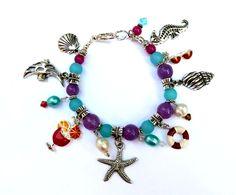 Genuine Jade/Sea Glass & Pearl Sea Life  Beach by IslandGirl77, $29.99