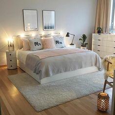 Ikea bett, ikea bedroom, home bedroom, bedroom wall, bedroom decor on a b. Dream Rooms, Dream Bedroom, Home Bedroom, Bedroom Wall, Ikea Bedroom Decor, Budget Bedroom, Bedroom Furniture, Pink Bedrooms, Master Bedrooms