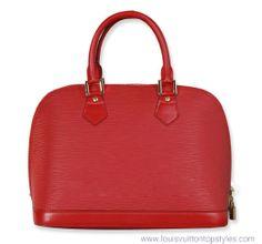 Louis Vuitton Alma Bags Sale | Louis Vuitton Wayne-lines Alma Red HandBags M52142 Outlet Sale