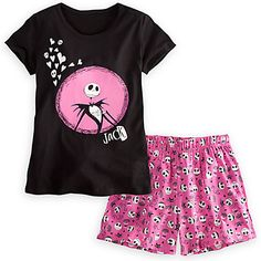 Jack Skellington Sleepwear Set for Women | Pajama Sets | Disney Store Cute Pjs, Cute Pajamas, Pajamas Women, Disney Pajamas, Jack The Pumpkin King, Sleepwear Sets, Jack And Sally, Jack Skellington, Disney Merchandise