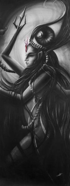 "Saatchi Art Artist Sunny Bhanushali;  Dessin, ""Bliss of Shiva"" #art"