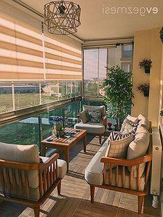 Small Balcony Design, Balkon Design, Home Aquarium, Garden Design, House Design, Dressing Room Design, Outdoor Furniture Sets, Outdoor Decor, Garden Chairs