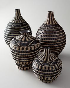 """Seagrass"" Vases at Horchow. Just got these at Home Goods for less!!"