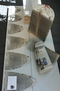 Developed by Mieke Meijer in conjunction with Vij5 NewspaperWood is exactly what it sounds like.... Wood made out of Newspaper.