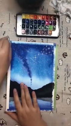 How to Paint Simple Sky Watercolor Sky, Watercolor Clouds, Beach Watercolor, Watercolor Galaxy, Simple Watercolor, Watercolor Beginner, Watercolor Paintings For Beginners, Watercolour Tutorials, Oil Pastel Art, Oil Pastels