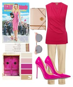 """Legally Blonde"" by dancingqueen31903 ❤ liked on Polyvore featuring M&Co, Tory Burch, Jimmy Choo and Vans"