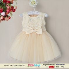 Kids Embroidered Dress - Designer Party Wear Dress, Baby Summer Dress, Flower Girl Dress, Infant Net Flare Wedding Dress, Princess Birthday Outfits, Kids Casual Wear, Baby Girl Clothing Collection 2016 #dresses #babygirlsdress #babydresses #babyoutfits #kidsoutfits #babyclothes #firstbrithday #partywear #kidsfashion
