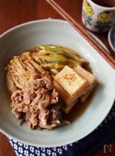 豚こまと厚揚げの簡単肉豆腐