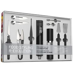 Food Styling R-Evolution: Unleash the full potential of your culinary creativity! MOLECULE-R is giving foodies worldwide the food styling toolset t Kitchen Gifts, Kitchen Tools, Kitchen Gadgets, Kitchen Supplies, Kitchen Electronics, Kitchen Products, Kitchen Dining, Kitchen Ideas, Food Styling