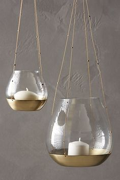 Hanging Bonaire Votive #anthropologie                                                                                                                                                                                 More