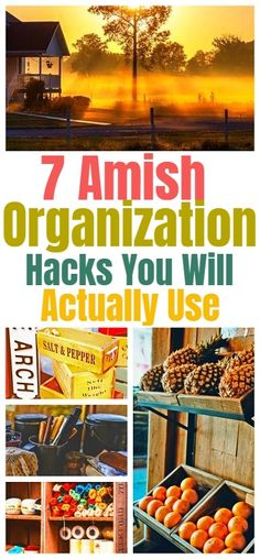 7 Amish Decluttering & Home Organization Ideas You Will Find Very Useful #amish #amishliving #amishlifestyle #homehacks #organization #organizing #lifehacks #organizationideas #organizationtips #organizationhacks #declutter