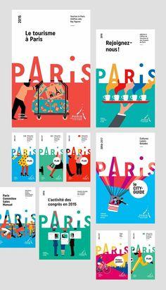 【 品牌設計—巴黎會議活動與觀光局】  國際交流從設計做起!Paris Convention and Visitors Bureau 為了讓觀光客了解巴黎並促進國際互動,嚴謹的設計出全新樣貌。這本手冊便代表觀光客對於巴黎的第一印象,無論是視覺符號或是字體應用,都經過細膩的探討後才決定,值得效法!  https://www.behance.net/gallery/37274419/Paris-Convention-and-Visitors-Bureau-Brand-design