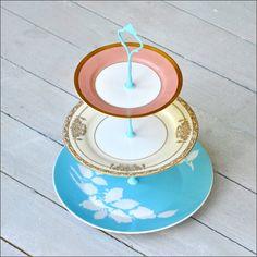 Chrysalis: 3 Tier Cake Stand, Vintage Cake Stand, Mid Century China Serveware