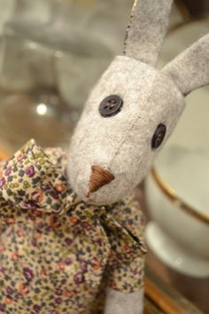 Here she is, my lovely Luna Lapin If you remember, I picked this kit up from a stall at the Creative Stitch and Hobbycraft Show last weekend in Manchester. Pet Toys, Doll Toys, Handmade Soft Toys, Handmade Dolls, Raggy Dolls, Cute Sewing Projects, Sewing Stuffed Animals, Fabric Animals, Fabric Toys