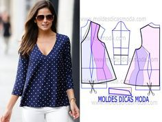 Amazing Sewing Patterns Clone Your Clothes Ideas. Enchanting Sewing Patterns Clone Your Clothes Ideas. Blouse Patterns, Clothing Patterns, Sewing Patterns, Make Your Own Clothes, Diy Clothes, Summer Clothes, Sewing Blouses, Diy Fashion, Womens Fashion