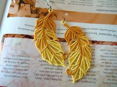 Lace Earrings - Trip To the Tropics from Lace-Design by DaWanda.com