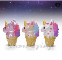 Wawaii unicorn galaxy icecream squishy ~ limited. Yummy scented