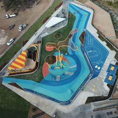 Landscape And Urbanism, Landscape Elements, Urban Landscape, Landscape Design, Kids Outdoor Playground, Playground Design, Cool Playgrounds, Sport Park, Pond Design