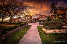 Sunset on The Square in downtown San Marcos, TX.