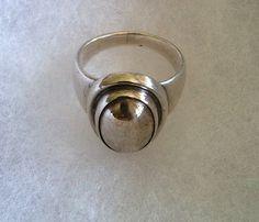 "Georg Jensen""Moonlight"" Sterling Silver ring, 46B, Silverball, SIze 5.25"