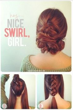 Quick Swirl Updo- Super Fast And Easy