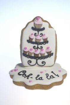 3D cupcake cookie