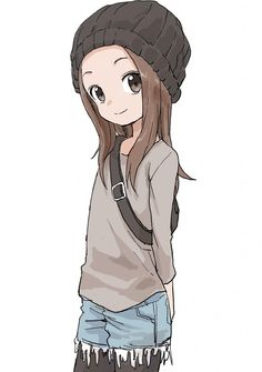 Karakai Jouzu no Takagi-san 5 Anime, Fanarts Anime, Anime Chibi, Anime Characters, Kawaii Anime Girl, Anime Art Girl, Manga Girl Drawing, Beautiful Anime Girl, Cute Anime Character