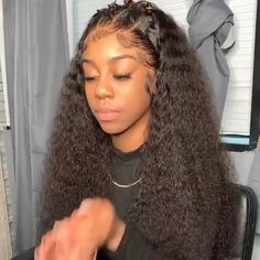 Curly Full Lace Wig, Black Curly Hair, Human Hair Lace Wigs, Curly Wigs, Deep Curly Weave, Long Curly, Brown Hair, Frontal Hairstyles, Weave Hairstyles