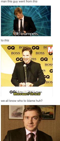 Benedict Cumberbatch and Martin Freeman (Sherlock) Sherlock Holmes, Sherlock Cast, Sherlock Fandom, Sherlock John, Jim Moriarty, Sherlock Quotes, Supernatural Fandom, Watson Sherlock, Martin Freeman