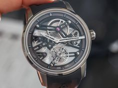 "Angelus U40 Racing Tourbillon Skeleton Watch Hands-On - by Ariel Adams - See this Angelus at: aBlogtoWatch.com - ""For 2016, Angelus released a few more new tourbillon watches. Thus far, all four watches from the Angelus brand, which is a sister company of Arnold & Son, have a tourbillon-style regulation system in the movement. That includes the Angelus U10, U20, U30, and U40 models. Interestingly enough, the tourbillons aren't engineered the same..."
