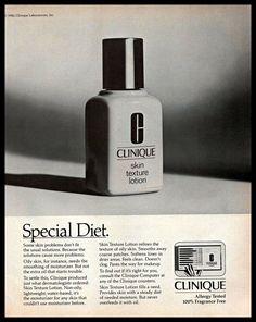 1983 Clinique Lotion Vintage Photo PRINT ADVERTISEMENT Cosmetics Skin Care B&W     eBay