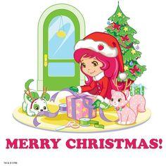 Merry Christmas, Strawberry Shortcake! Strawberry Shortcake Pictures, Strawberry Shortcake Coloring Pages, Strawberry Shortcake Characters, Strawberry Shortcake Doll, Snoopy Christmas, Winter Christmas, Merry Christmas, Holly Hobbie, Coloring Book Pages