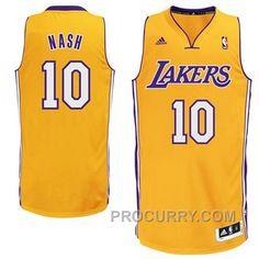 192b34468a7 Steve Nash Los Angeles Lakers  10 Revolution 30 Swingman Gold Jersey