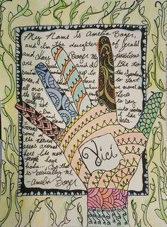 Hand Self-Portrait Art with ELA - Zendoodle Hand Project w/ Video Demonstrations - Amelia Boger – Hand Self-Portrait- A Space to Create High School Art, Middle School Art, Hand Kunst, Top Art Schools, Self Portrait Art, 6th Grade Art, School Art Projects, Autumn Art, Art Lesson Plans