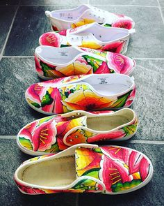 5ebb4a6b9d66 Customized sneakers. Handpainted shoes. Mexican style. Oaxacan Hand Painted  Shoes
