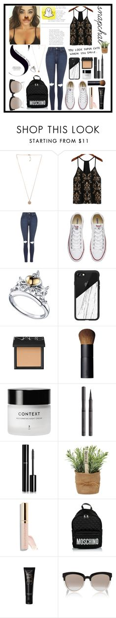 """""""Snapchat?"""" by rhiannonpsayer on Polyvore featuring Michael Kors, WithChic, Topshop, Converse, Disney, Casetify, NARS Cosmetics, Burberry, Chanel and Beautycounter"""