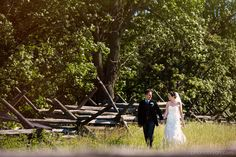 Gettysburg battlefield wedding | April and Bryan Photography