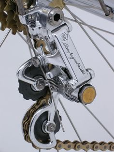 Anniversary Campagnolo - used to have this Anniversary hardware, complete with gold emblems. Cool Bicycles, Cool Bikes, Cycling Bikes, Cycling Art, Bike Details, Bike Components, Push Bikes, Bicycle Race, Bike Rider