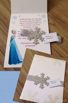 Preciosa invitación para una fiesta de cumpleaños inspirada en la película de Disney Frozen. #Frozen #invitaciones