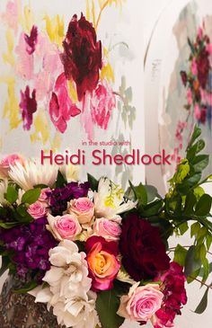 We were delighted to visit Durban based artist Heidi Shedlock in her studio and witness her arranging beautiful flowers - with paint! Her work concentrates u. Floral Paintings, Short Film, South Africa, Beautiful Flowers, Floral Wreath, Bouquet, Wreaths, Studio, Artist