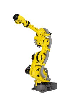 The ability to squeeze more robots into less space, like this robot from @FANUCAmerica is a game changer for many automobile manufacturers.