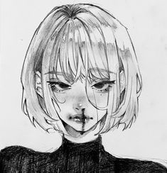 Art Drawings Sketches Simple, Pencil Art Drawings, Cool Drawings, Anime Girl Drawings, Cute Art Styles, Cartoon Art Styles, Manga Drawing Tutorials, Arte Obscura, Arte Sketchbook