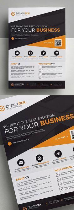 Corporate Business Flyer Design #businessflyer #corporateflyer #flyerdesign #flyertemplates #posterdesign #psdflyers
