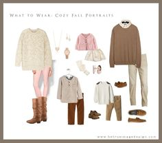 Cozy fall portraits for your family call for warm and snuggly outfits. Family Photography Outfits, Family Portrait Outfits, Fall Family Photo Outfits, Fall Family Photos, Clothing Photography, Fall Photos, Family Pictures, Family Color Schemes, What To Wear Fall
